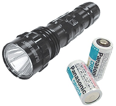 LED Tactical Flash Light - Black Color