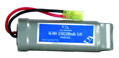 Ni-MH Battery 8.4V 2/3 1100mAH with Fuse  (For M14, M15, SA58, AUG,  CA33, CA36, CA249, MK17, LWRC)