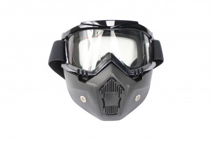 Skirmish Mask Type 3 - Black Color with Clear Lens